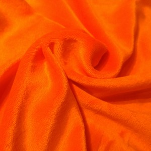 Metervare bambus velour Knall orange 10 cm